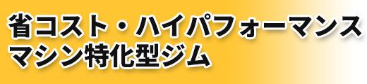 省コスト・ハイパフォーマンスマシン特化型ジム